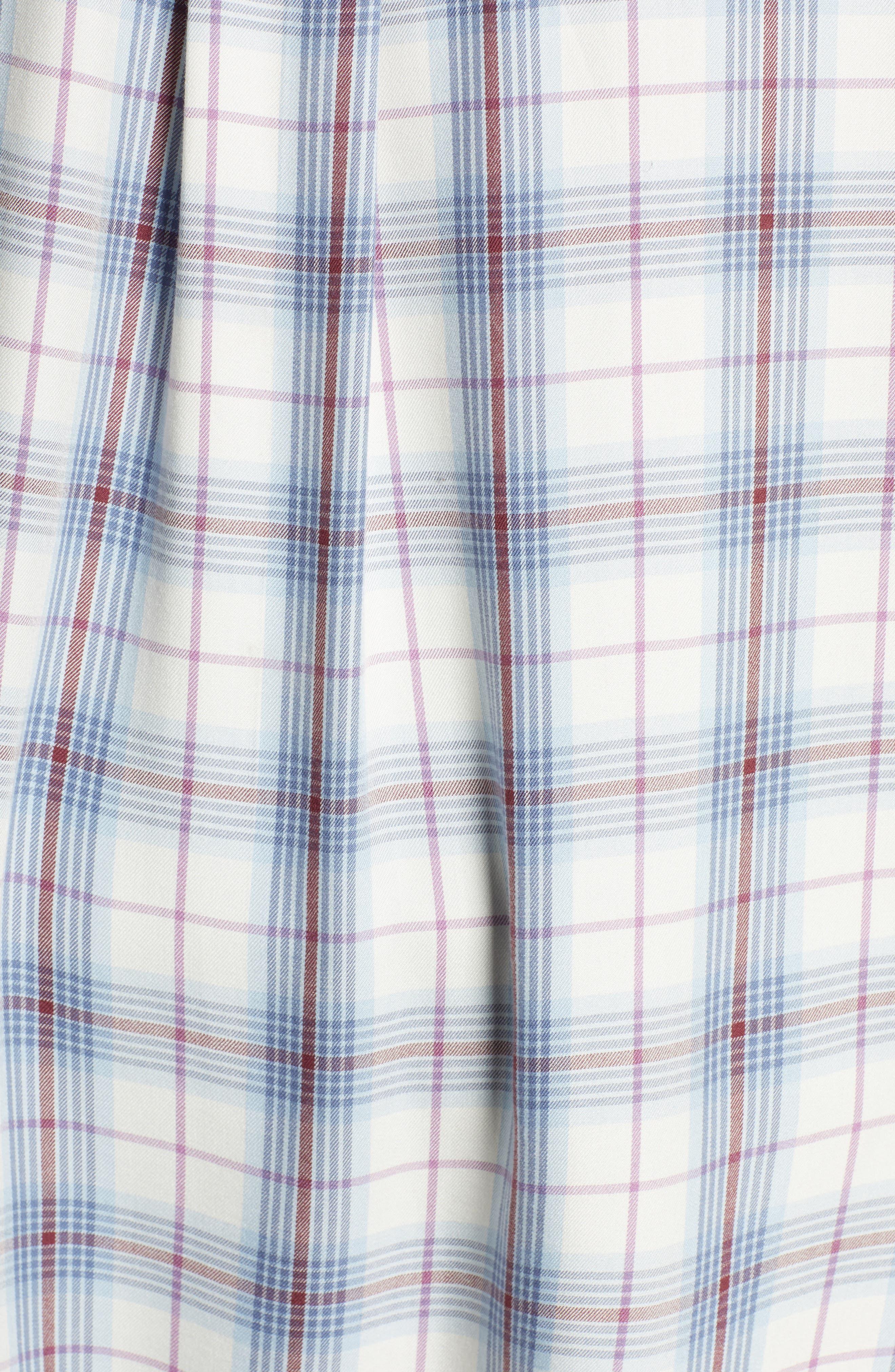 ,                             Lightweight Boyfriend Shirt,                             Alternate thumbnail 5, color,                             IVORY TARTINE PLAID