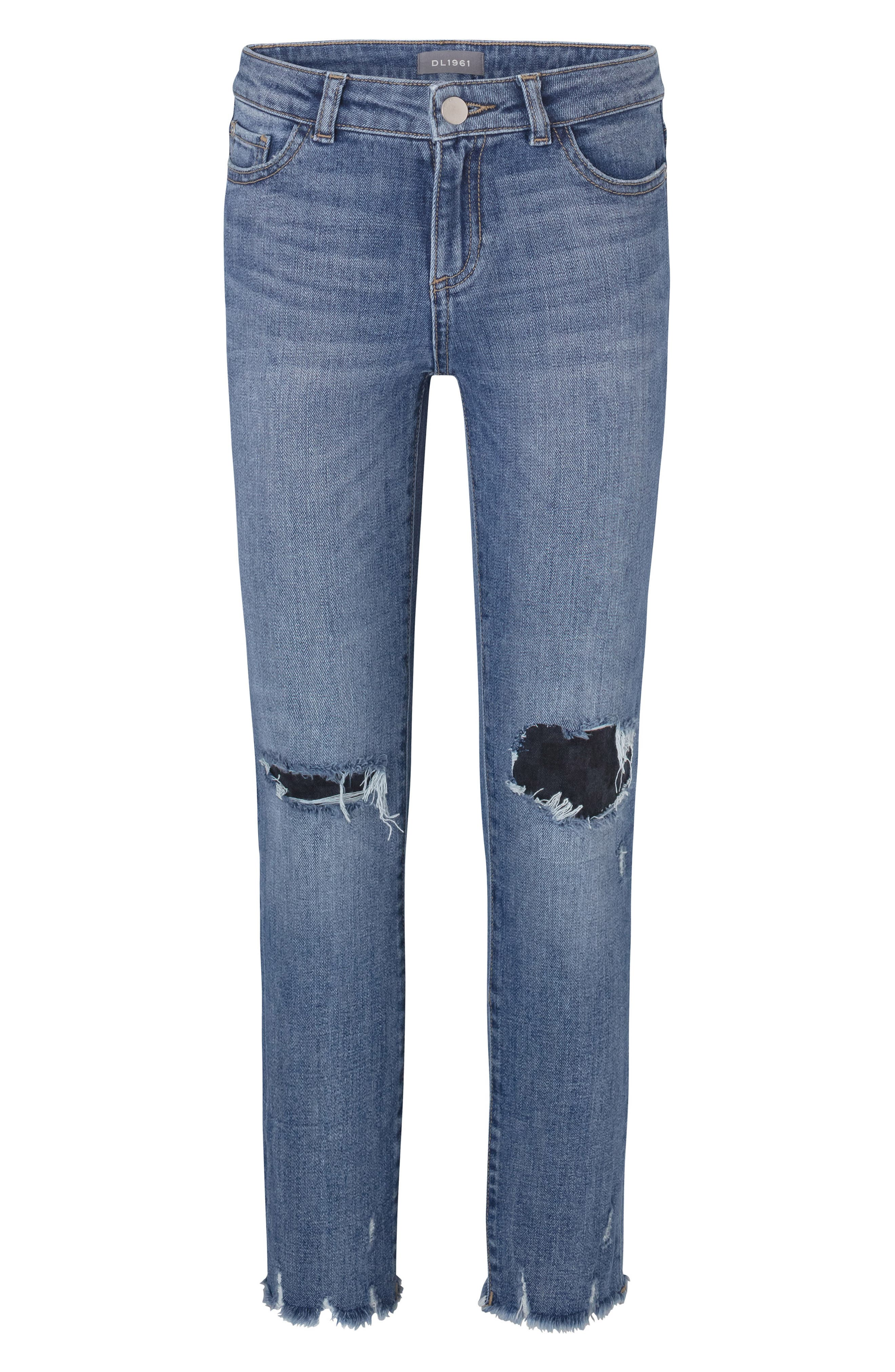 Girls Dl1961 Boyfriend Ripped Jeans Size 14  Blue