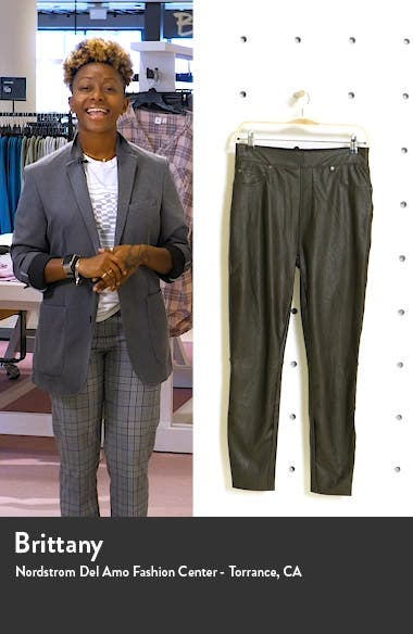 Faux Leather-Like Ankle Skinny Pants, sales video thumbnail