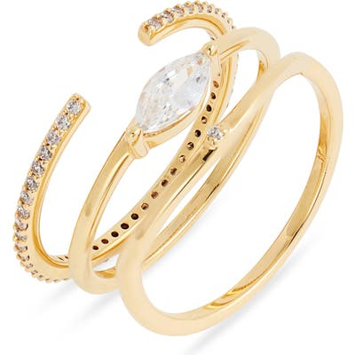 Nordstrom Set Of 3 Cubic Zirconia Stacking Rings