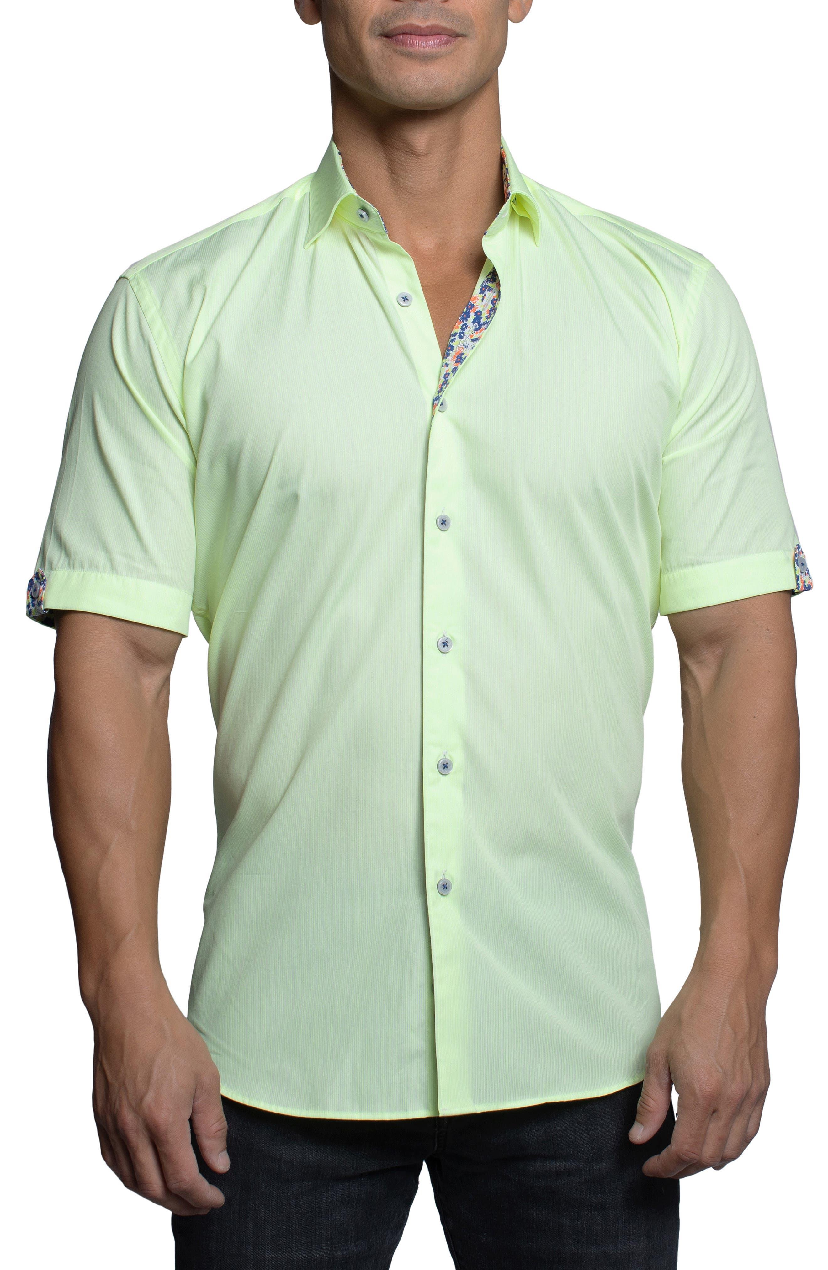 Galileo Stripe Short Sleeve Button-Up Shirt