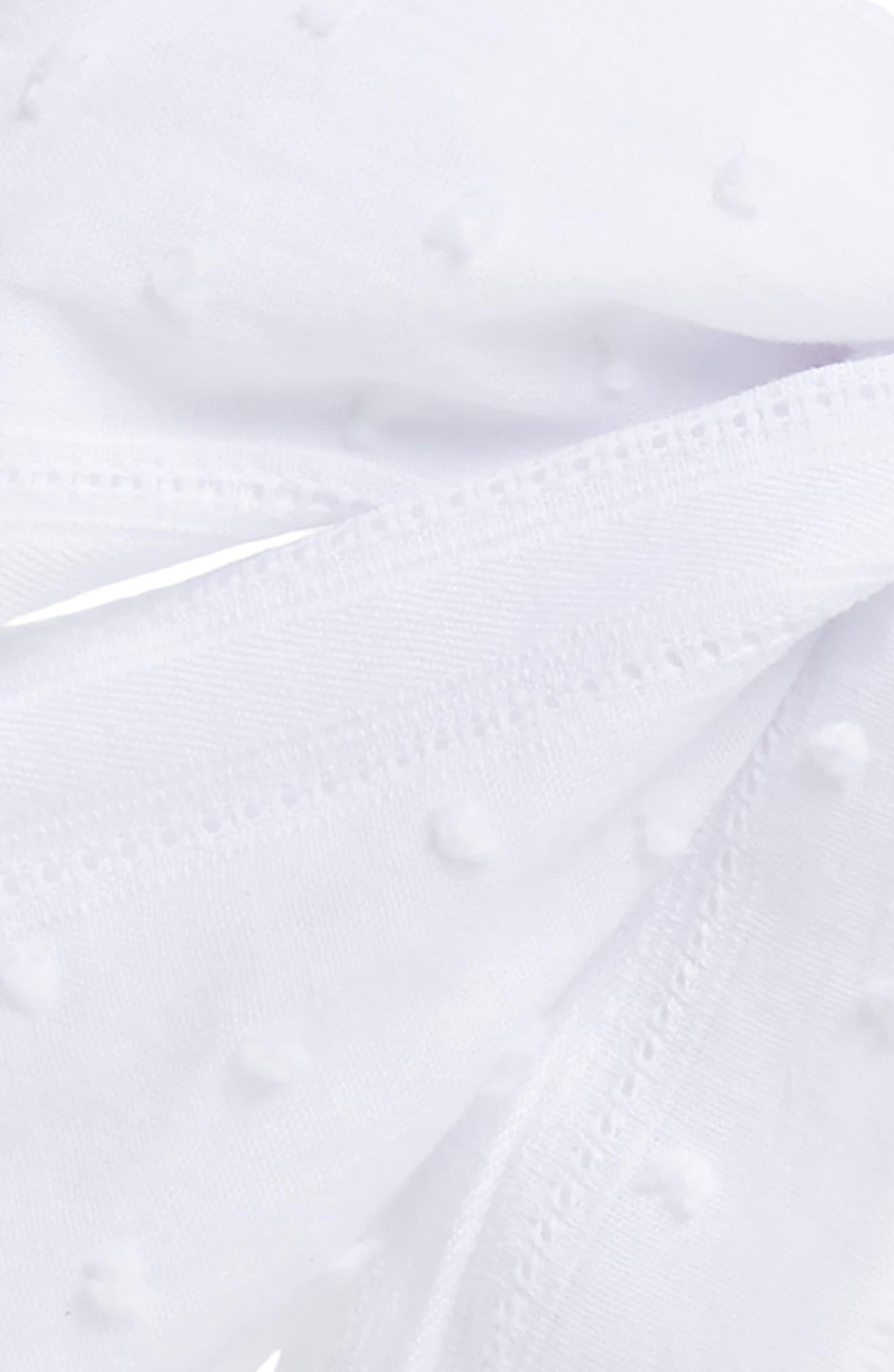 ,                             Swiss Dot Bow Headband,                             Alternate thumbnail 2, color,                             WHITE