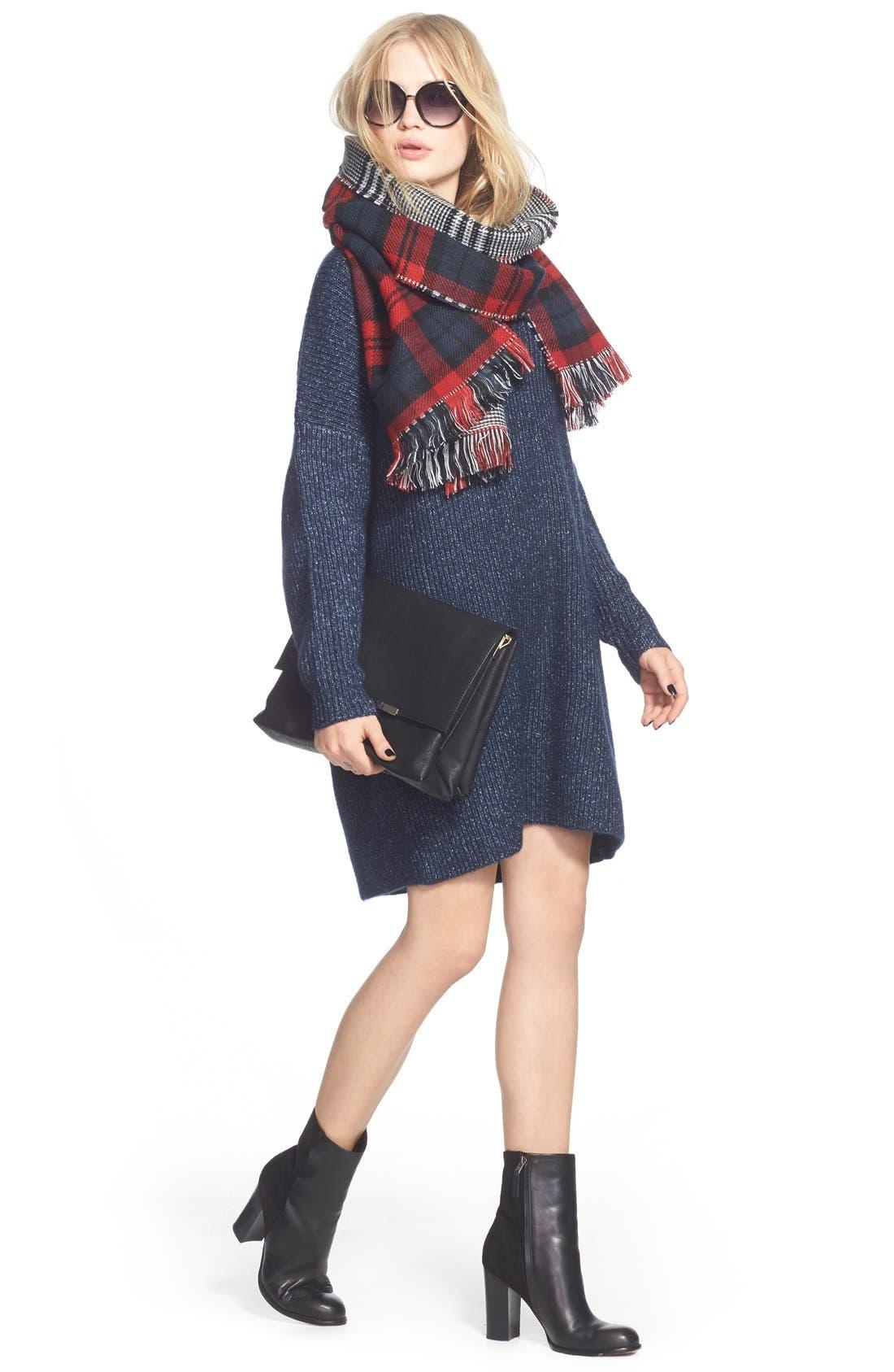 ,                             V-Neck Sweater Minidress,                             Alternate thumbnail 5, color,                             461