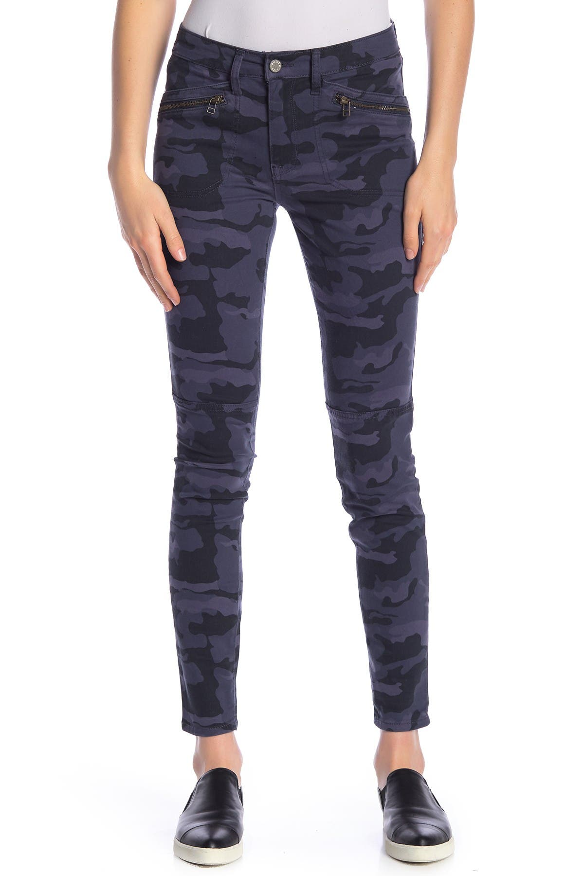Image of William Rast Jane Camo Zip Flap Skinny Jeans