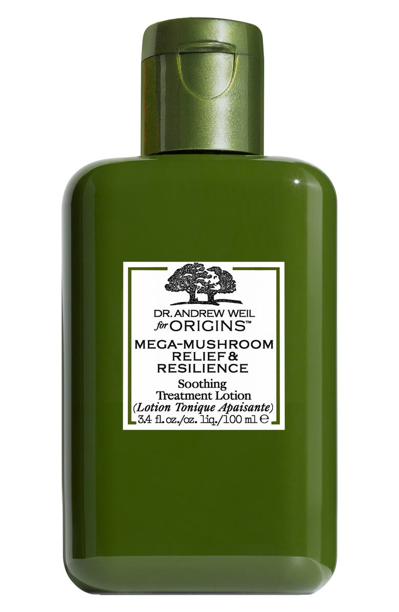 ORIGINS Dr. Andrew Weil for Origins<sup>™</sup> Mega-Mushroom Relief & Resilience Soothing Treatment Lotion, Main, color, NO COLOR