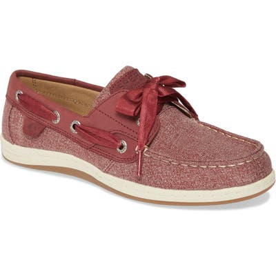 Sperry Koifish Canvas Boat Shoe- Red