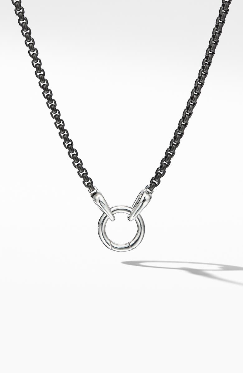 DAVID YURMAN Charm Necklace, Main, color, SILVER