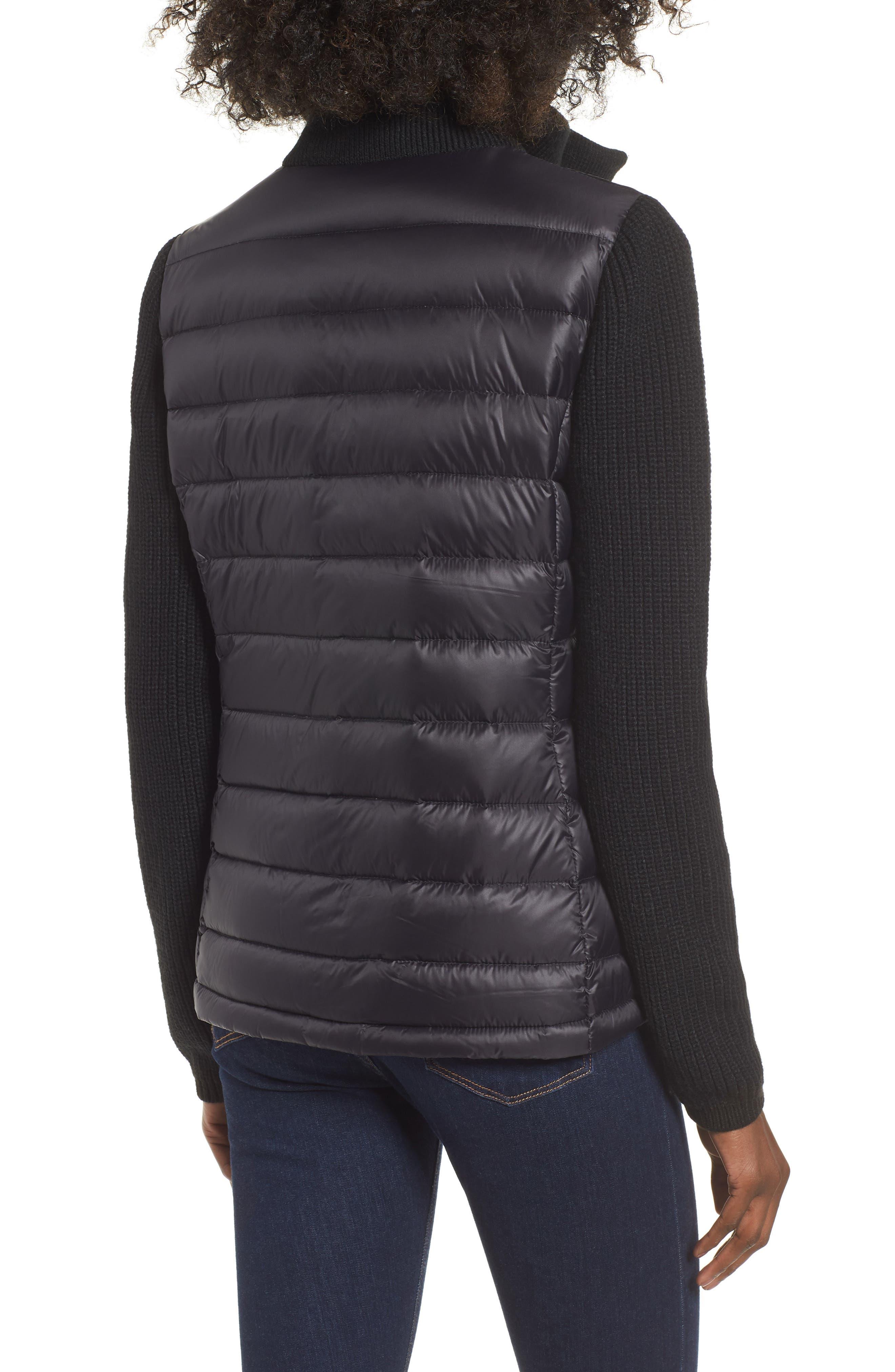 ,                             Mark New York Packable Knit Trim Puffer Jacket,                             Alternate thumbnail 9, color,                             001