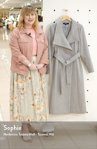 Belted Wool Blend Maxi Coat, sales video thumbnail