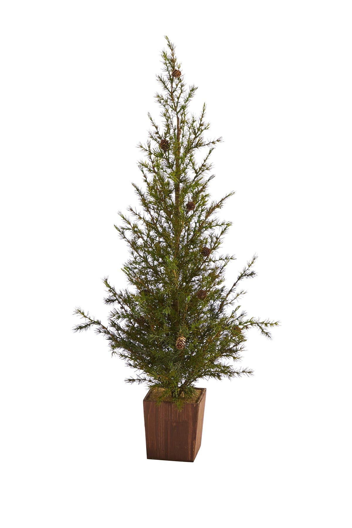 Image of NEARLY NATURAL 4ft. Alpine Natural Look Artificial Christmas Tree