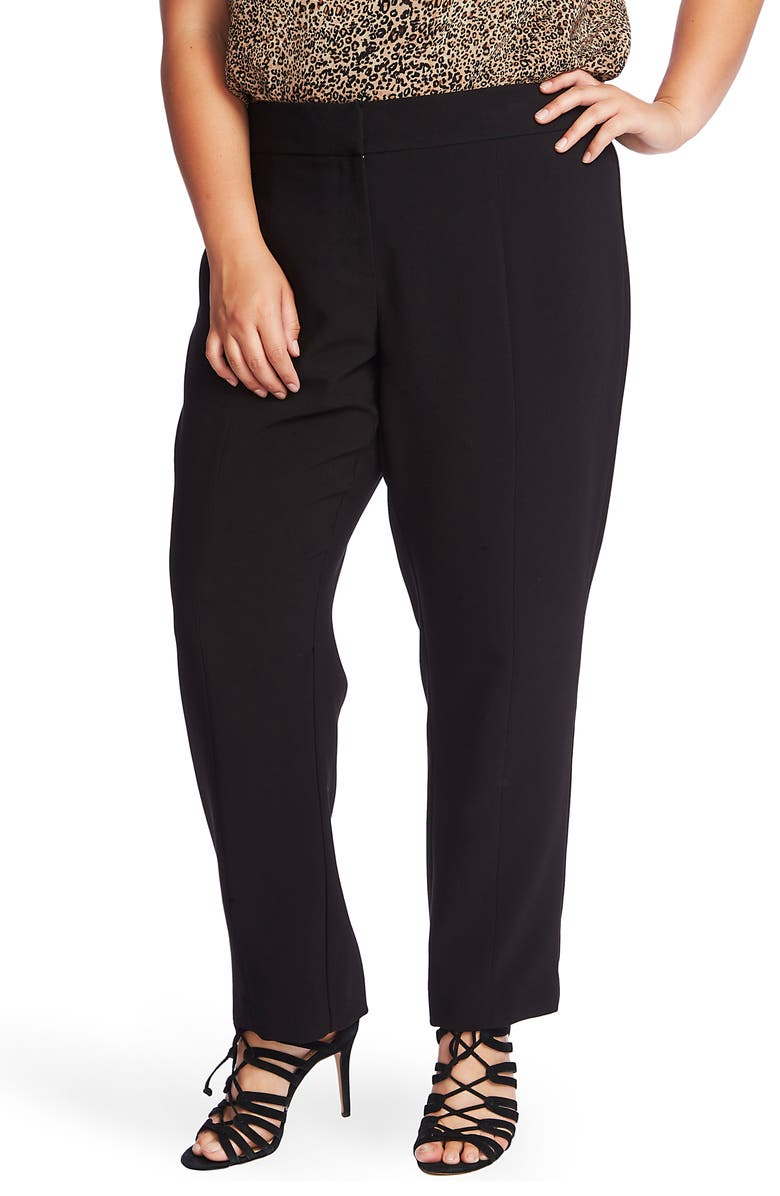 1.STATE Center Seam Stretch Crepe Trousers, Main, color, RICH BLACK