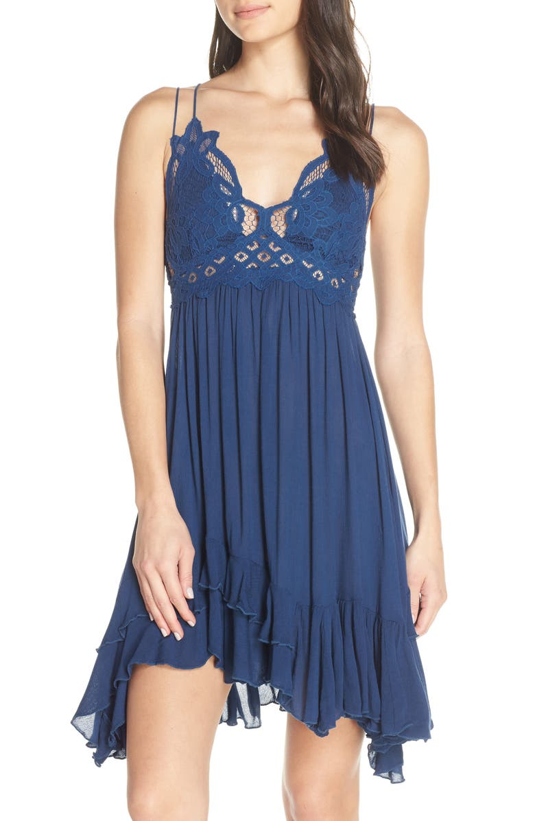 FREE PEOPLE Intimately FP Adella Frilled Chemise, Main, color, BLUE