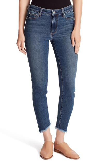 Ella Moss Jeans FRAYED HIGH WAIST ANKLE SKINNY JEANS