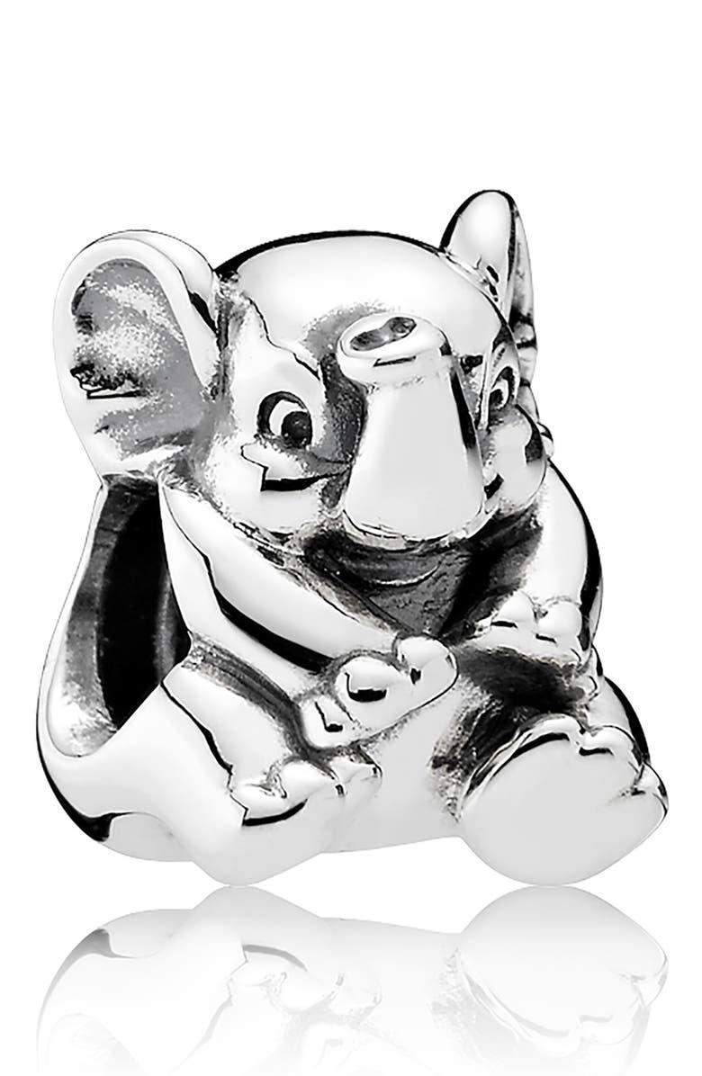 PANDORA Lucky Elephant Charm, Main, color, 040