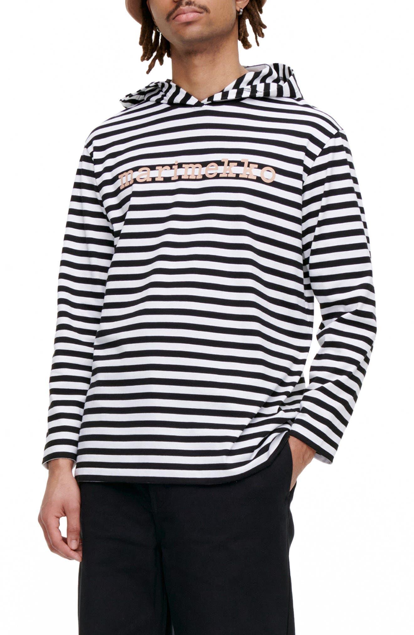 Unisex Palho Tasaraita Stripe Hooded Top
