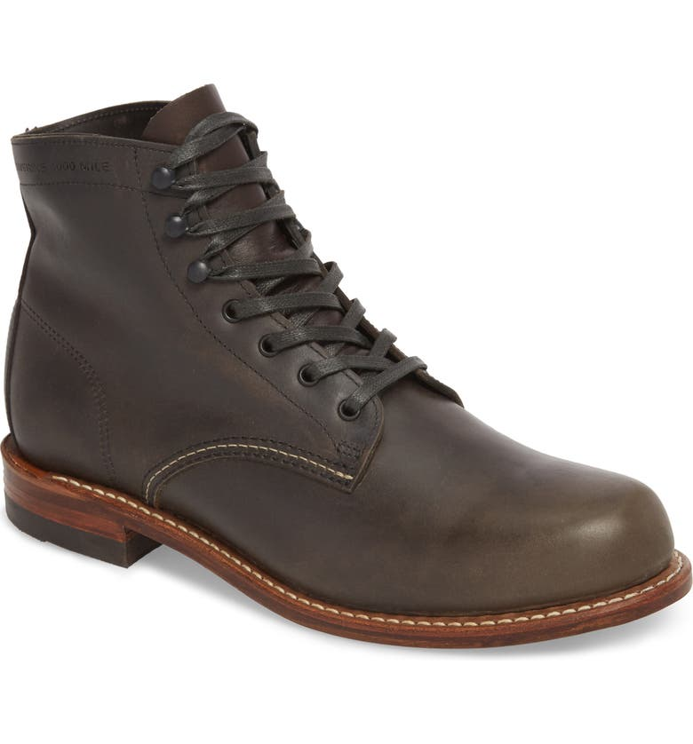 WOLVERINE '1000 Mile' Plain Toe Boot, Main, color, 021