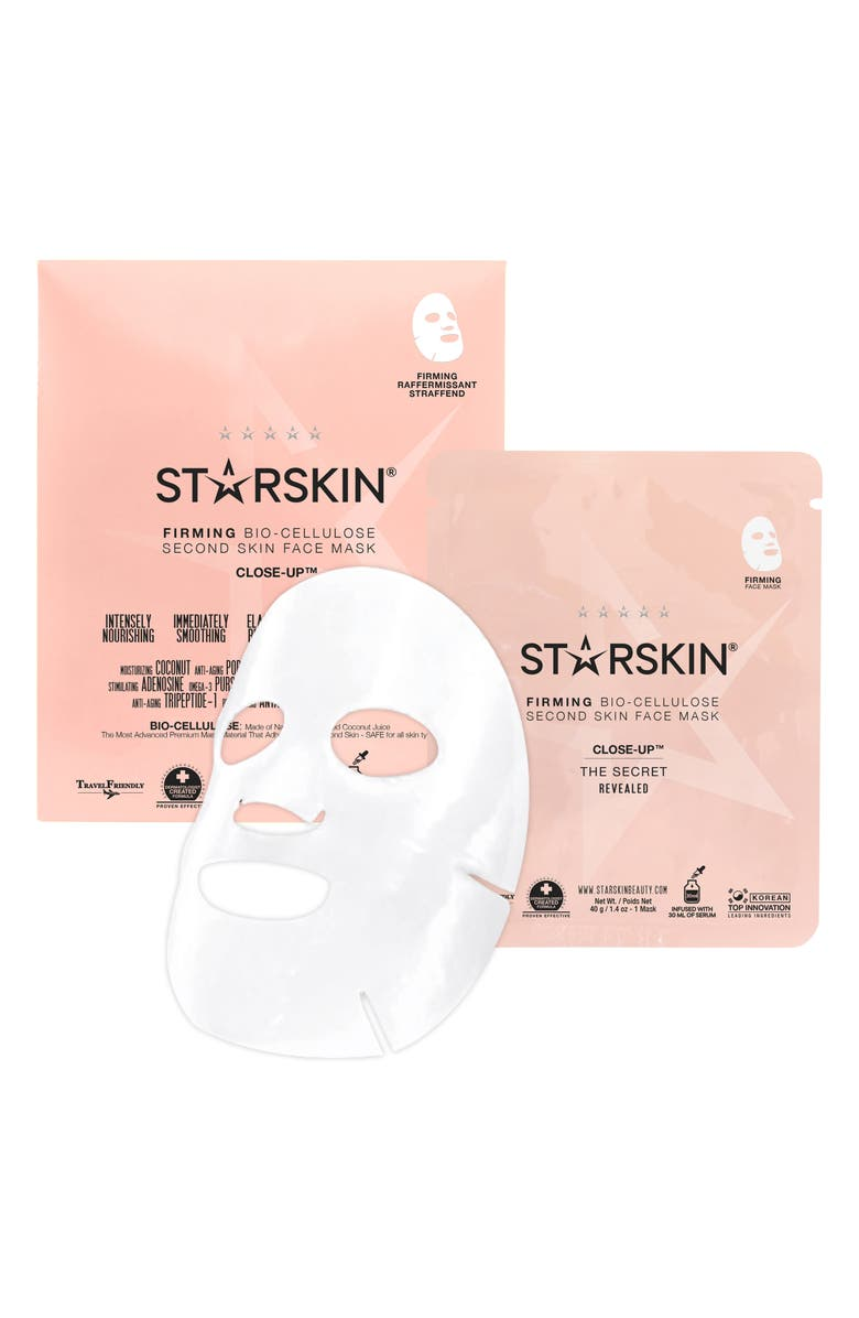 STARSKIN <sup>®</sup> Close-Up Bio-Cellulose Firming Face Mask, Main, color, NO COLOR
