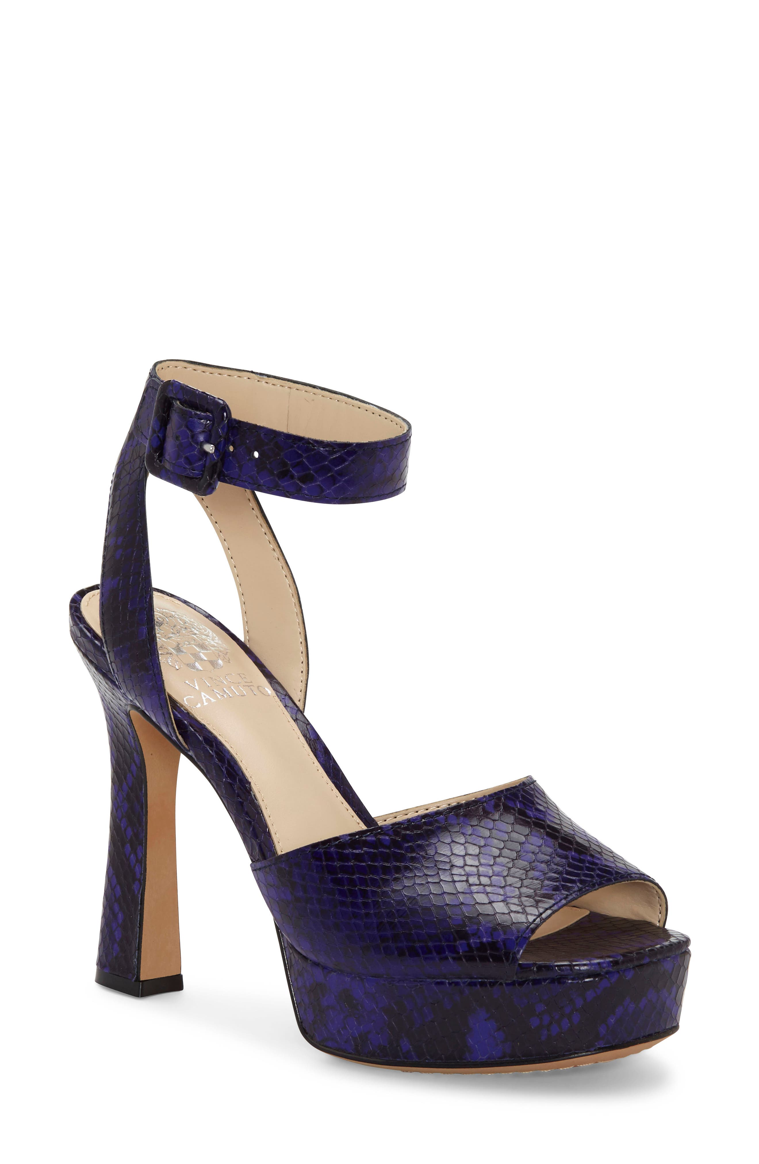 Rock \\\'70s style with this platform sandal designed with an ankle strap and curvy tall heel. Style Name: Vince Camuto Kortinta Platform Sandal (Women). Style Number: 5955460. Available in stores.