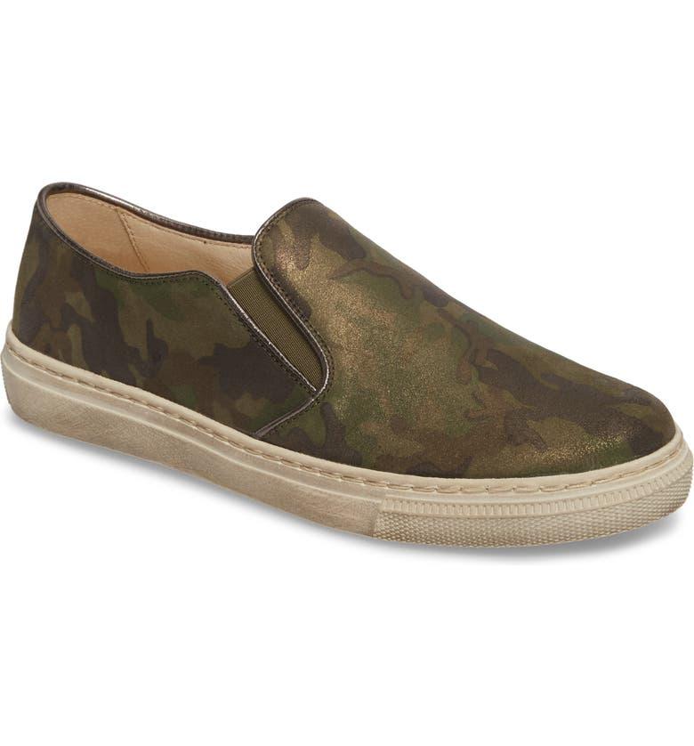 GABOR Slip-On Sneaker, Main, color, GREEN LEATHER