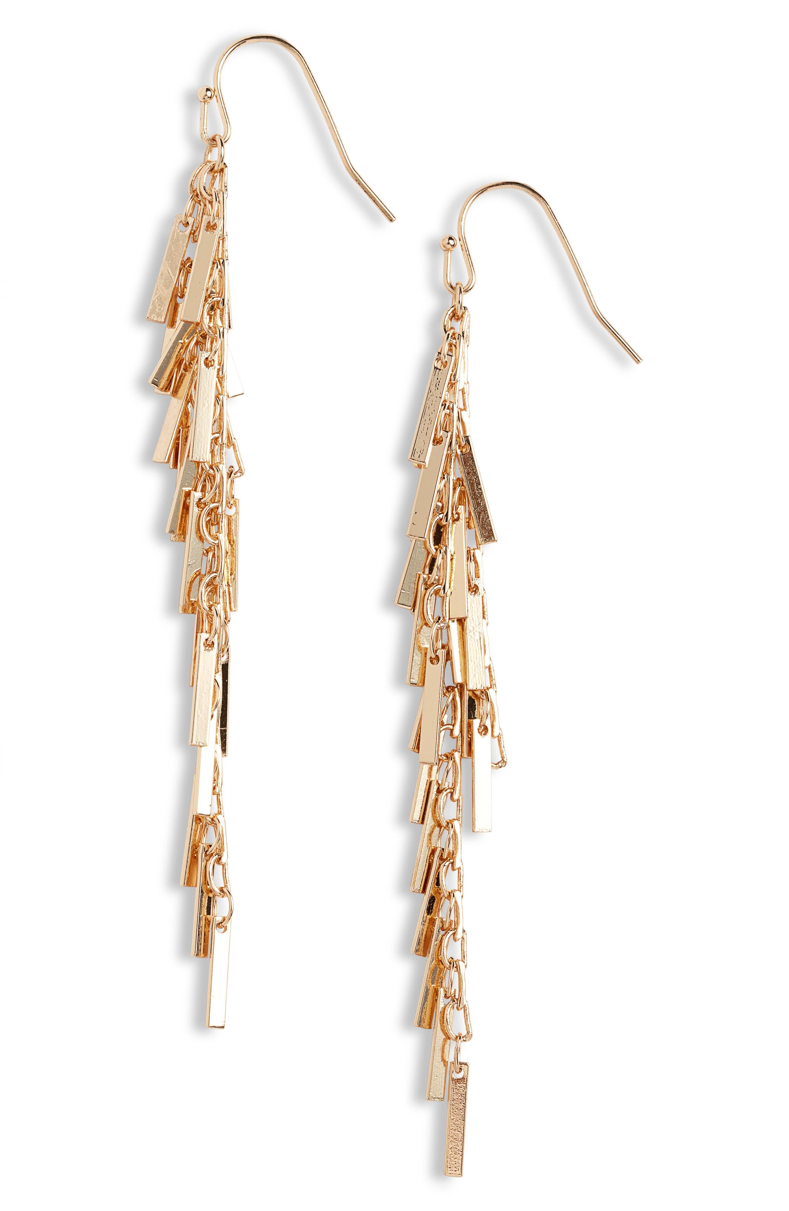 Image of Halogen Shaky Fringe Linear Earrings
