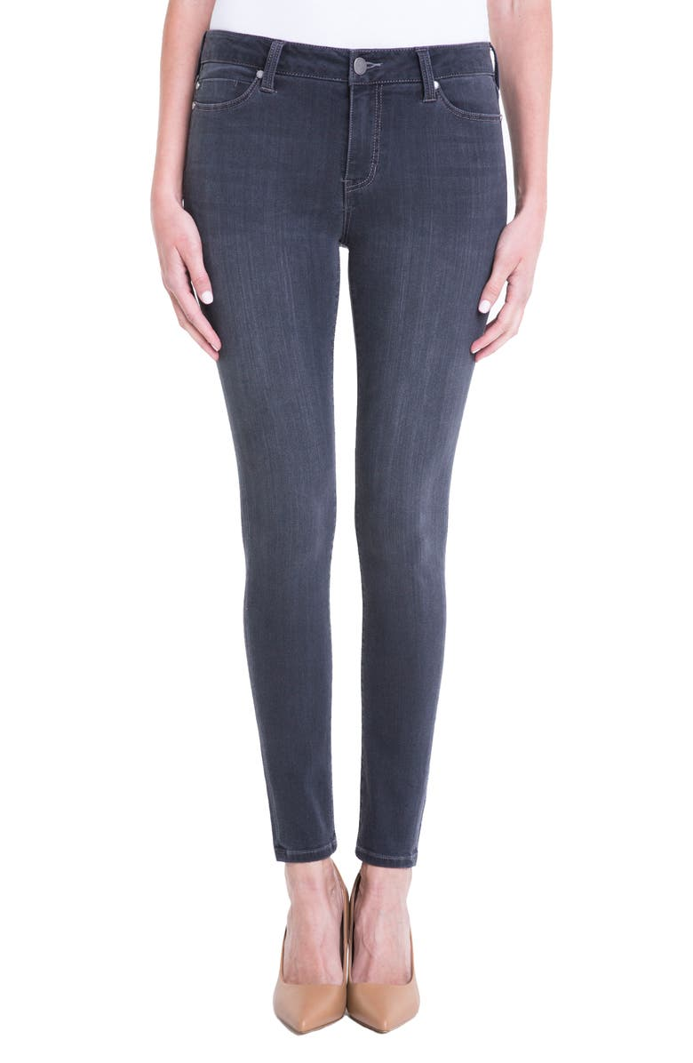 LIVERPOOL Abby Stretch Skinny Jeans, Main, color, METEORITE