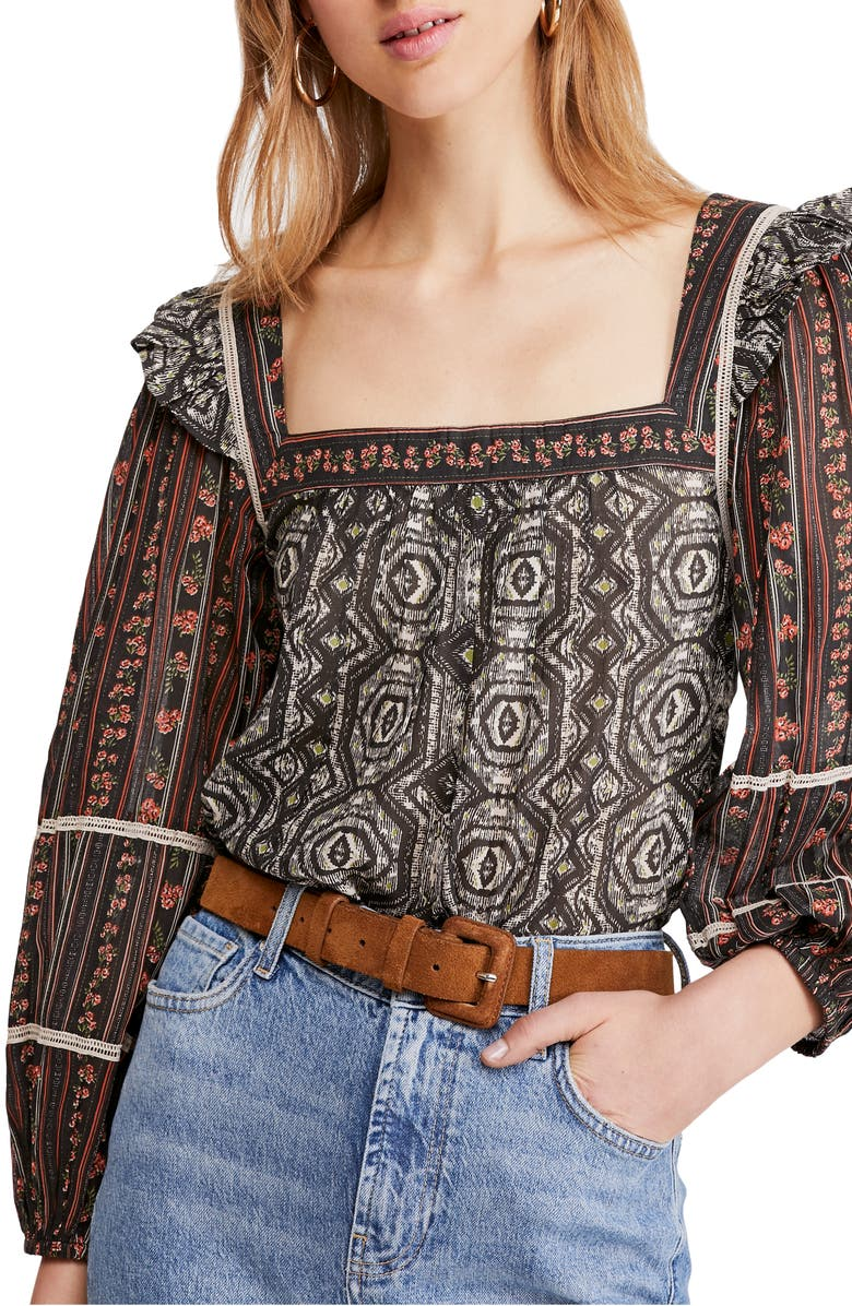 FREE PEOPLE Mostly Meadow Blouse, Main, color, 001