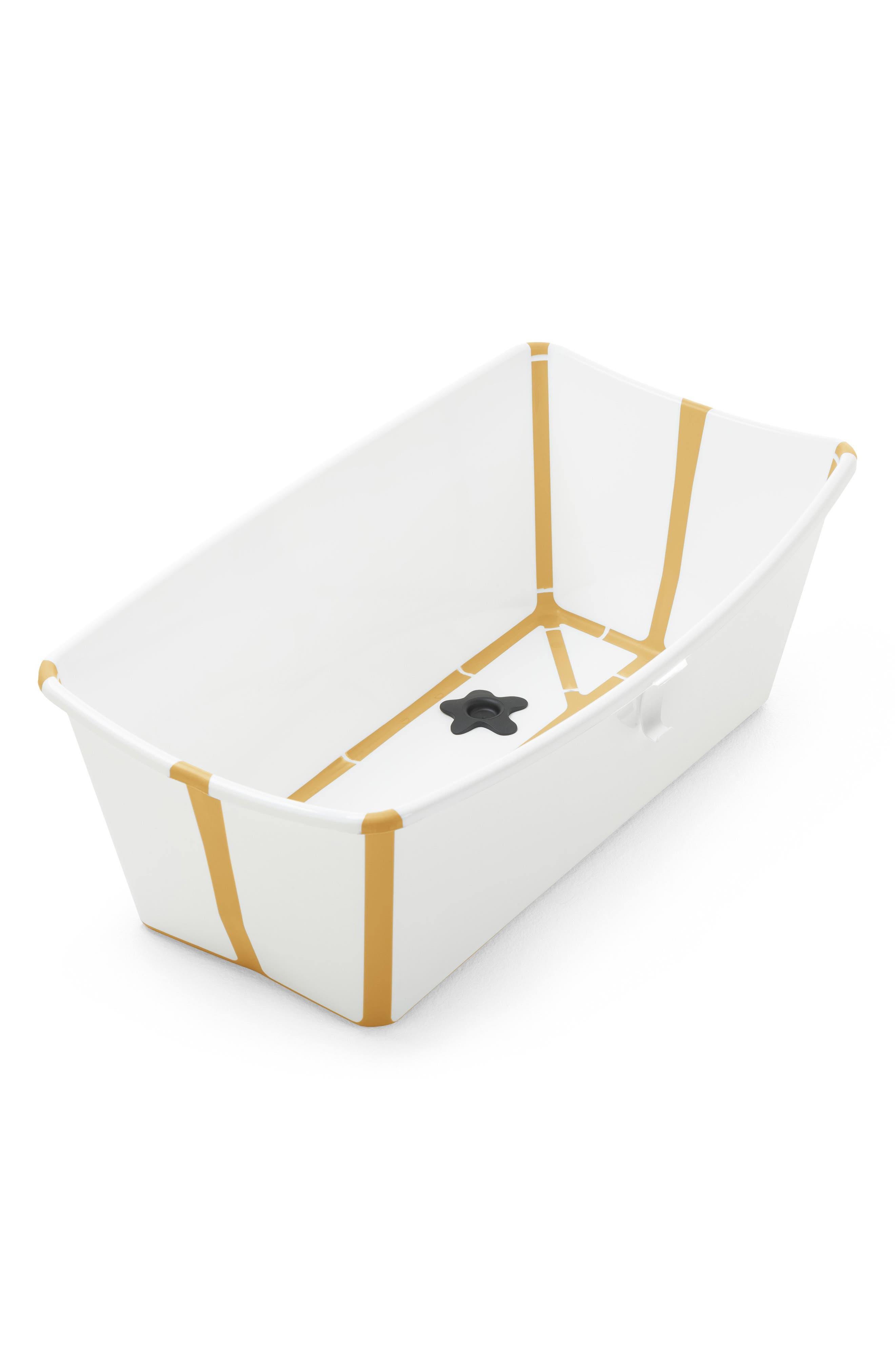Infant Stokke Flexi Bath Foldable Baby Bathtub With Temperature Plug, Size One Size - Yellow