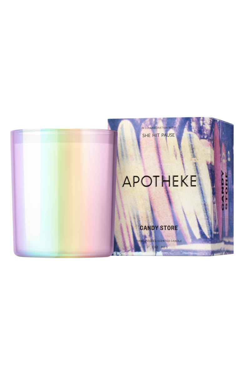 APOTHEKE x She Hit Pause Scented Candle, Main, color, CANDY STORE