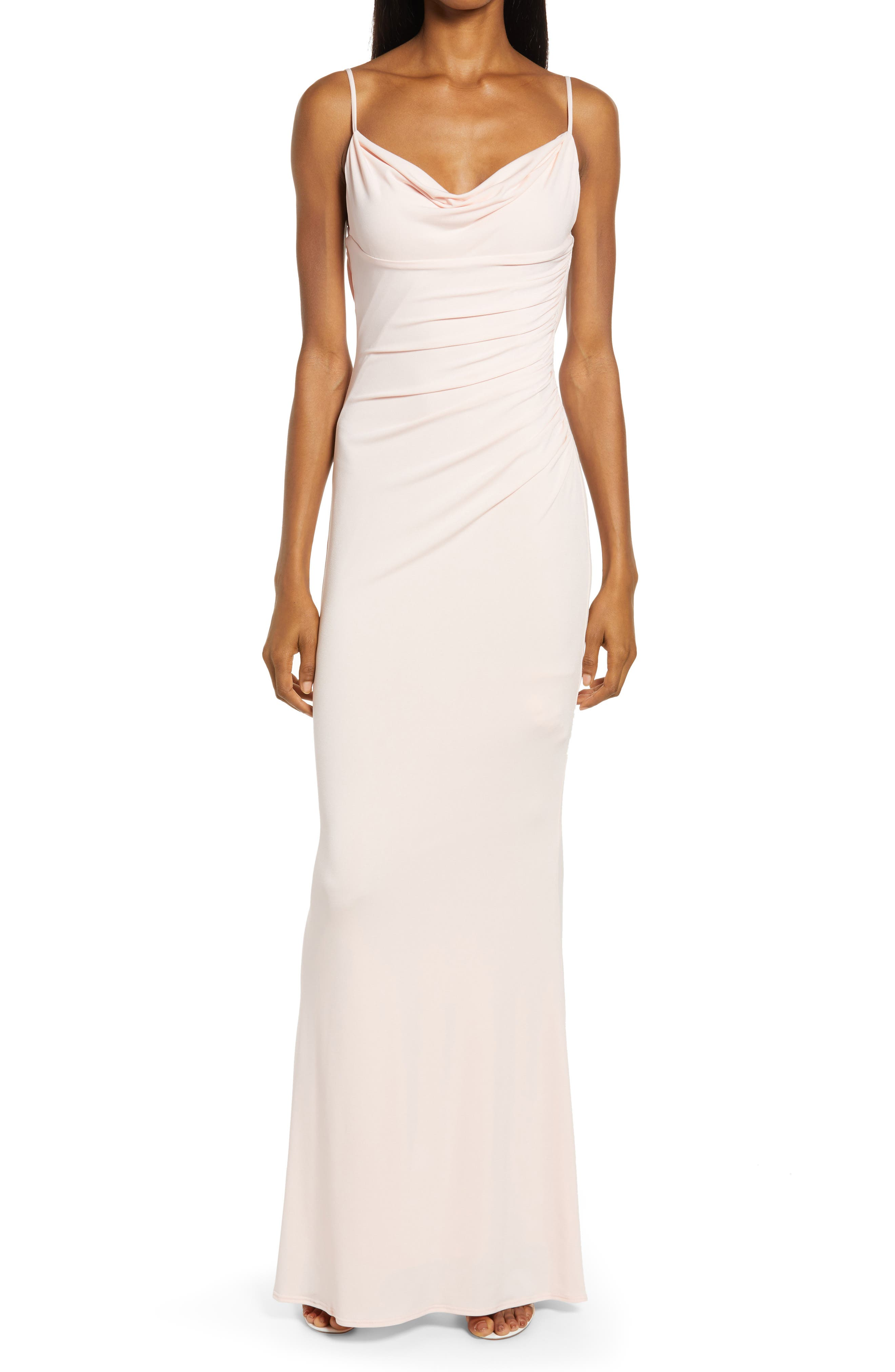 Surreal Ruched Side Gown