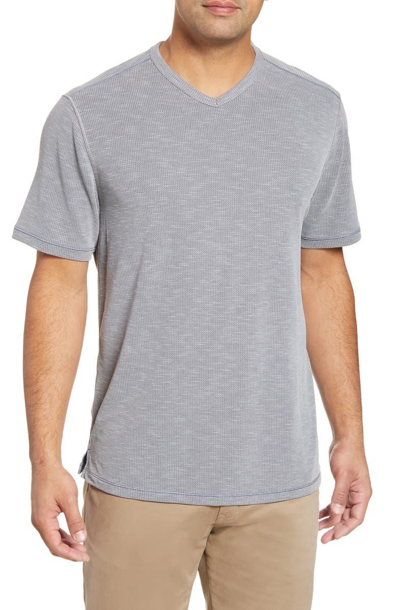 TOMMY BAHAMA Tropicool Paradise V-Neck T-Shirt, Main, color, ASH GREY