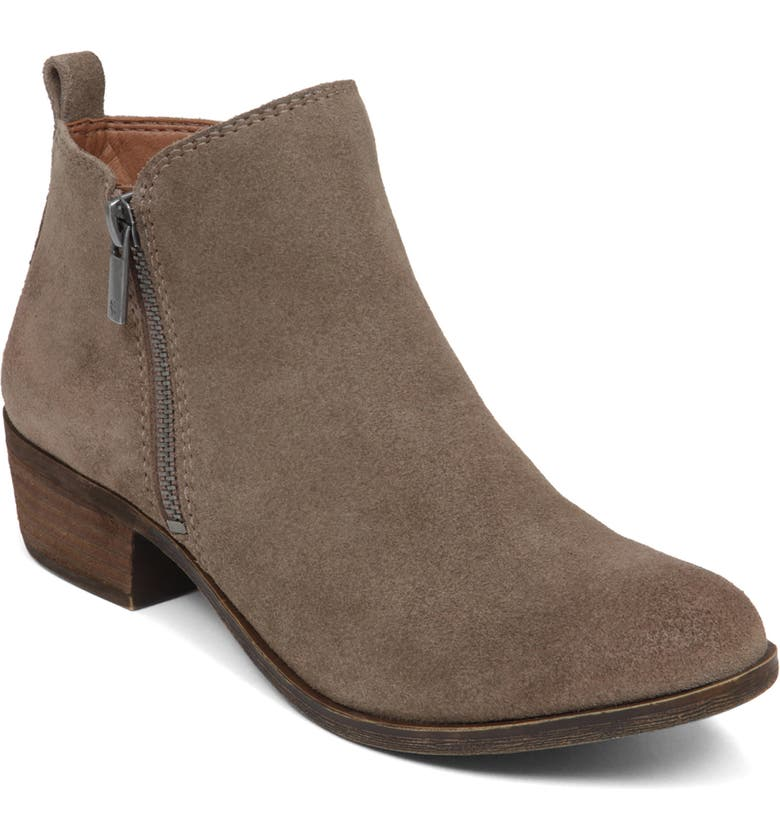 LUCKY BRAND Basel Bootie, Main, color, BRINDLE SUEDE