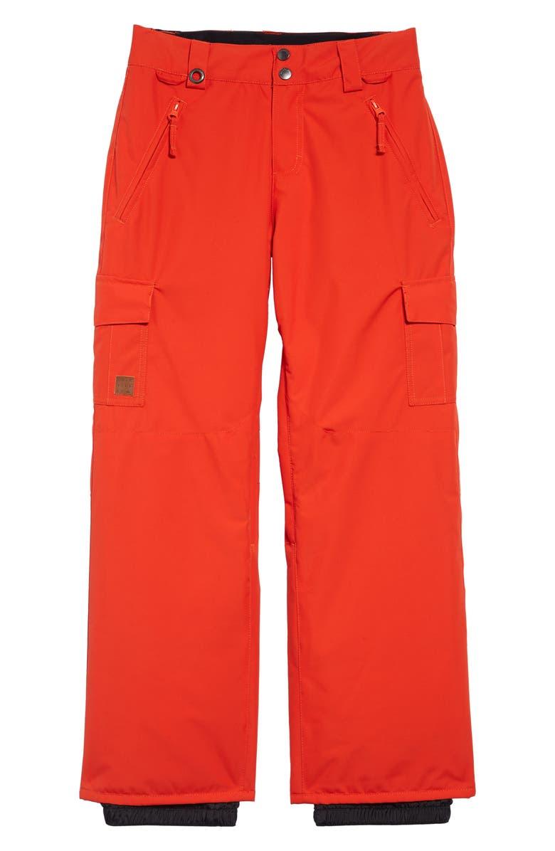 QUIKSILVER Porter Waterproof Snow Pants, Main, color, POINCIANA
