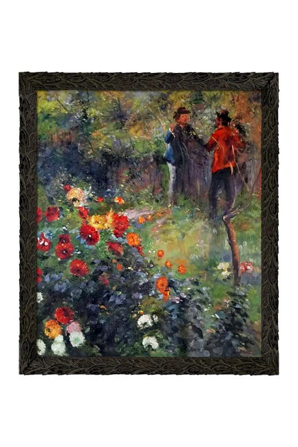 """Image of Overstock Art Garden in the Rue Cortot Montmartre with Feathered Ebony Frame - 23.24"""" x 27.24"""""""