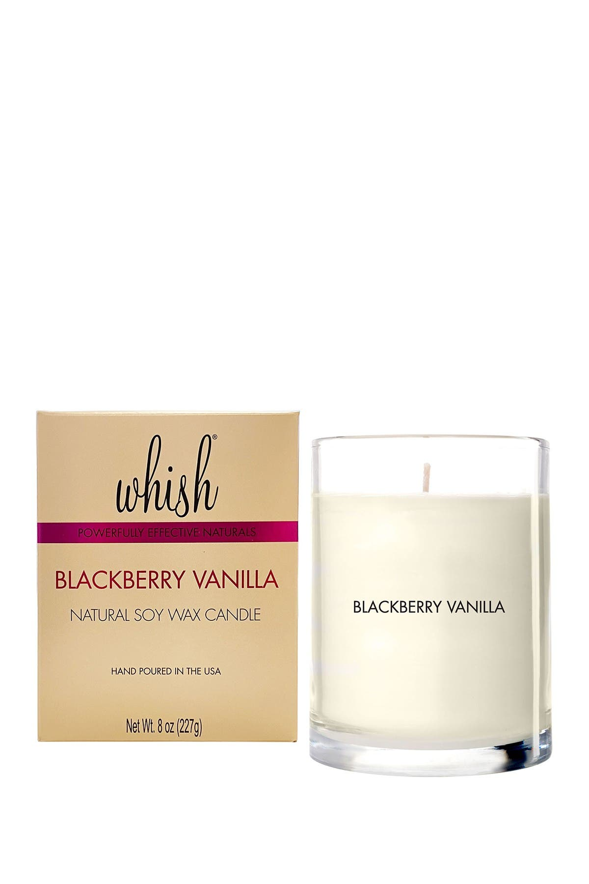 Image of Whish Natural Soy Wax Candle, Blackberry Vanilla, 8oz