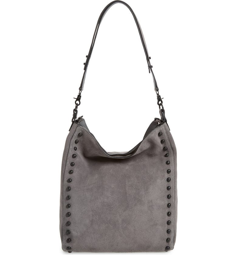 LOEFFLER RANDALL Suede Hobo Bag, Main, color, 044