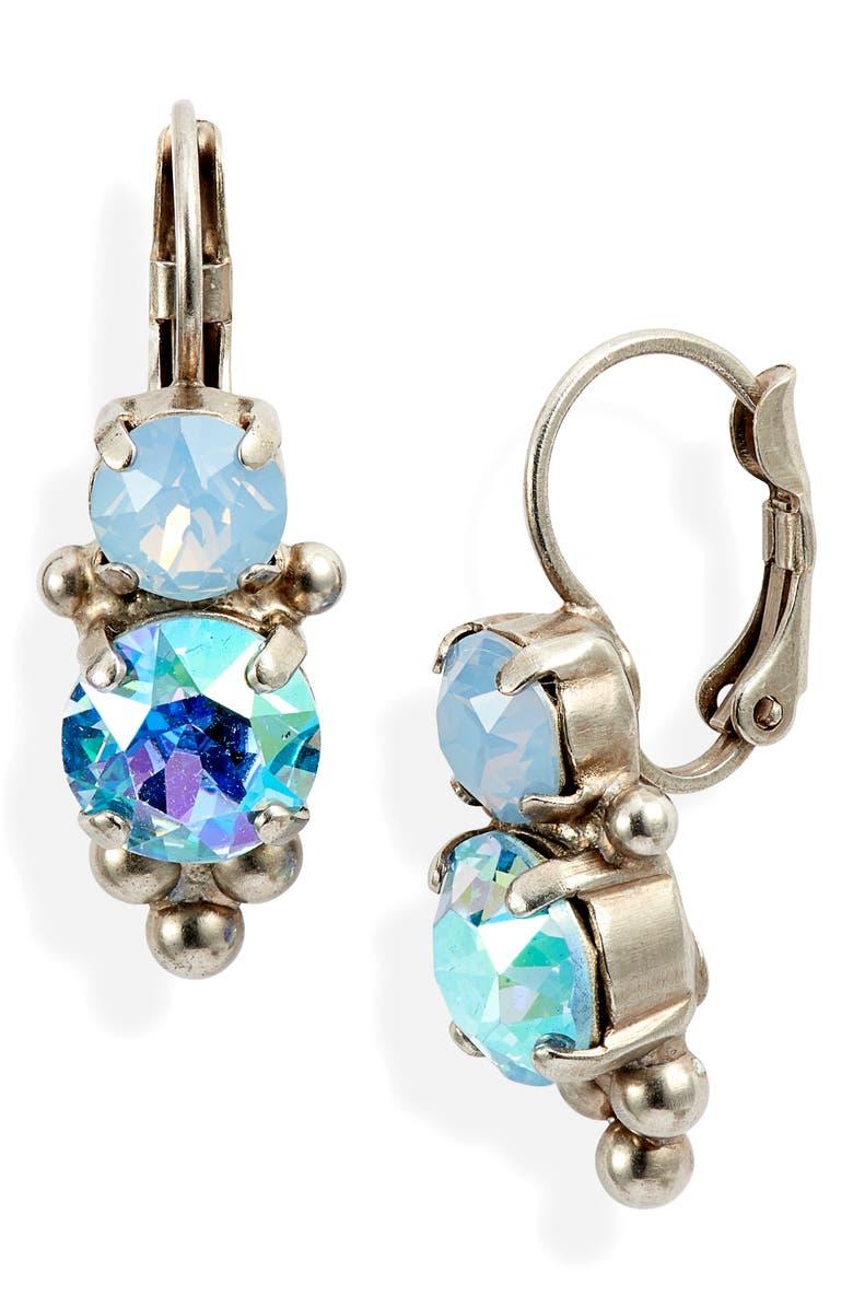 SORRELLI Pastel Prep Crystal Rounds Drop Earrings, Main, color, 400