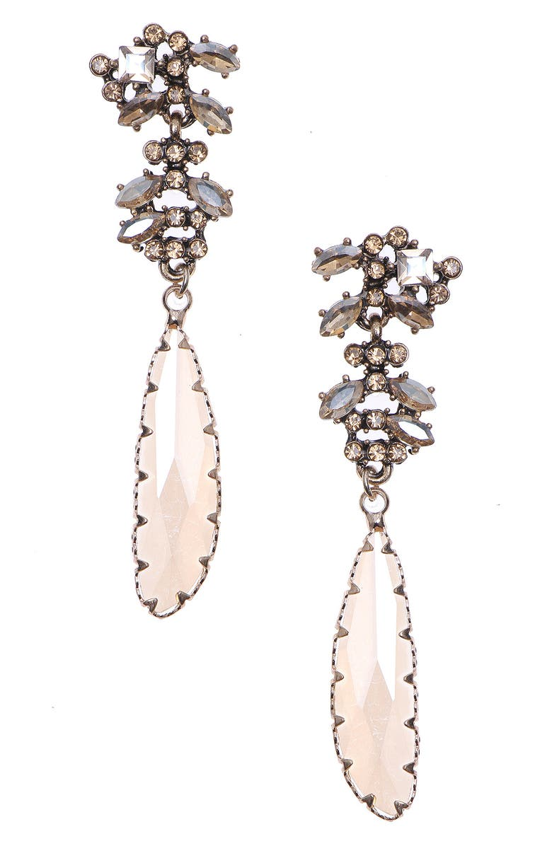 NAKAMOL CHICAGO Glass Drop Earrings, Main, color, CITRINE MIX