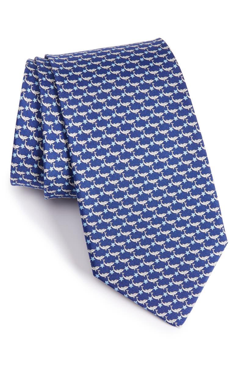 SALVATORE FERRAGAMO Novelty Silk Tie, Main, color, 410