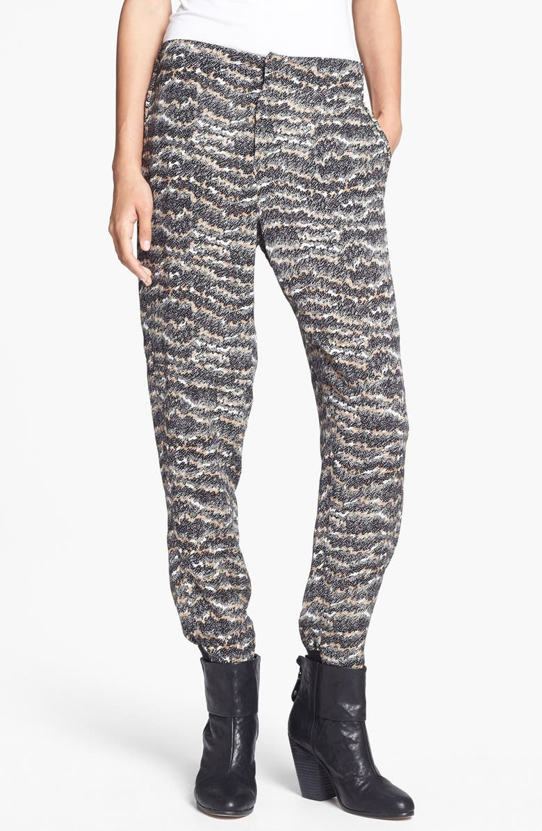 RAG & BONE 'Leisure' Print Silk Pants, Main, color, 001