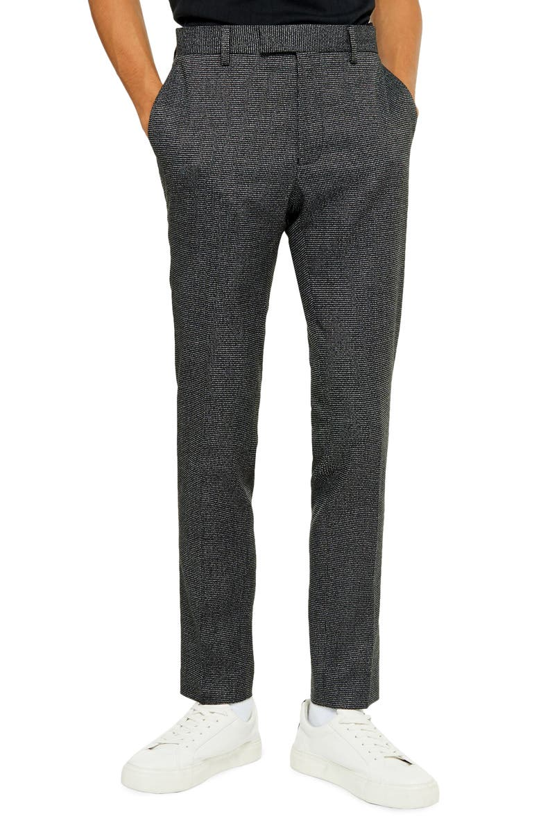 TOPMAN Lock Mono Skinny Trousers, Main, color, 001