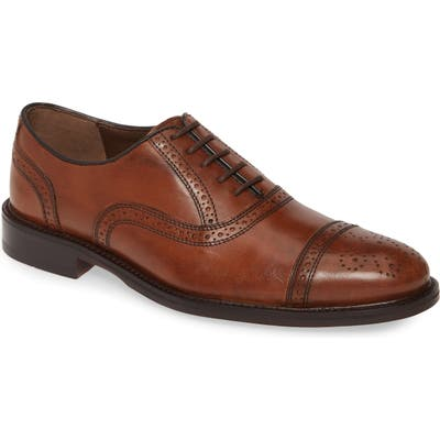 Johnston & Murphy Daley Medallion Toe Oxford, Brown
