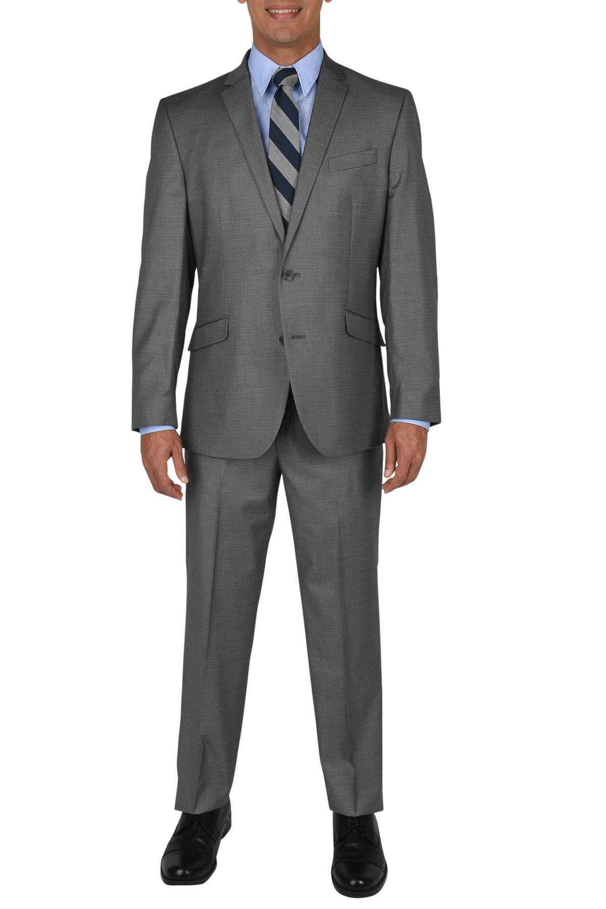 Image of Kenneth Cole Reaction Basketweave Two Button Notch Lapel Techni-Cole Performance Slim Fit Suit
