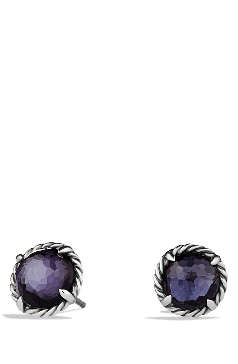 DAVID YURMAN 'Châtelaine' Earrings, Main, color, BLACK ORCHID