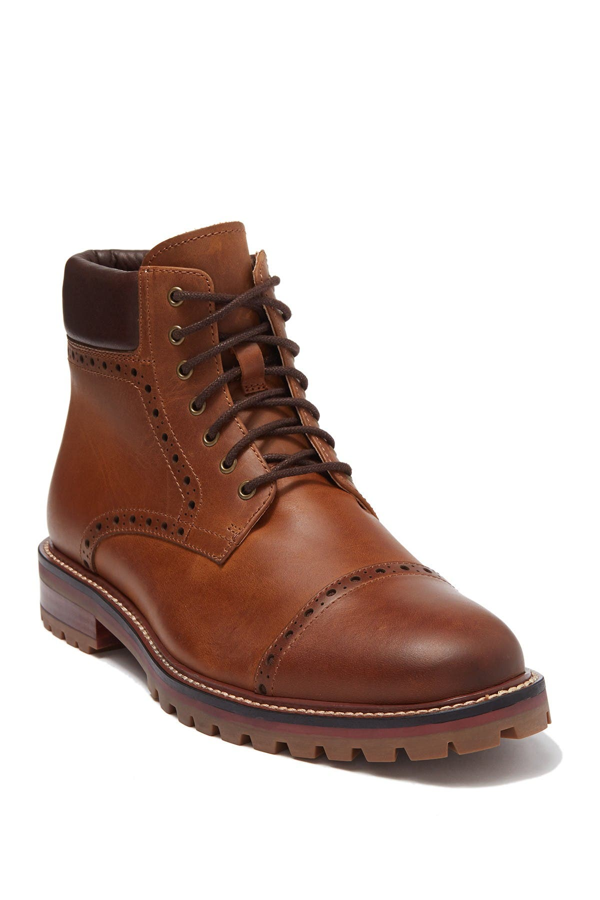 Image of Warfield & Grand Peralta Leather Cap Toe Boot