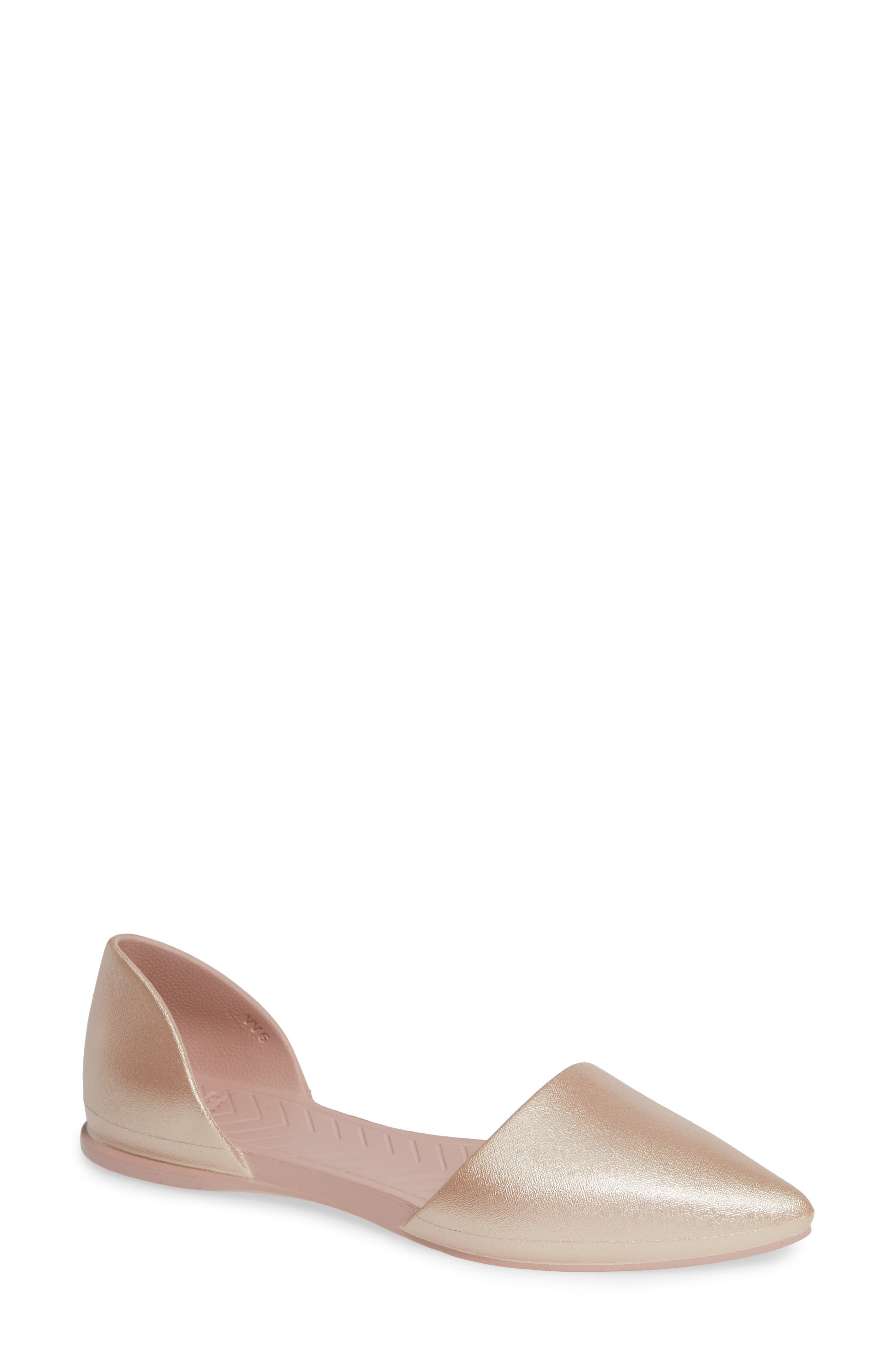Native Shoes Audrey Vegan Open Sided Flat, Pink