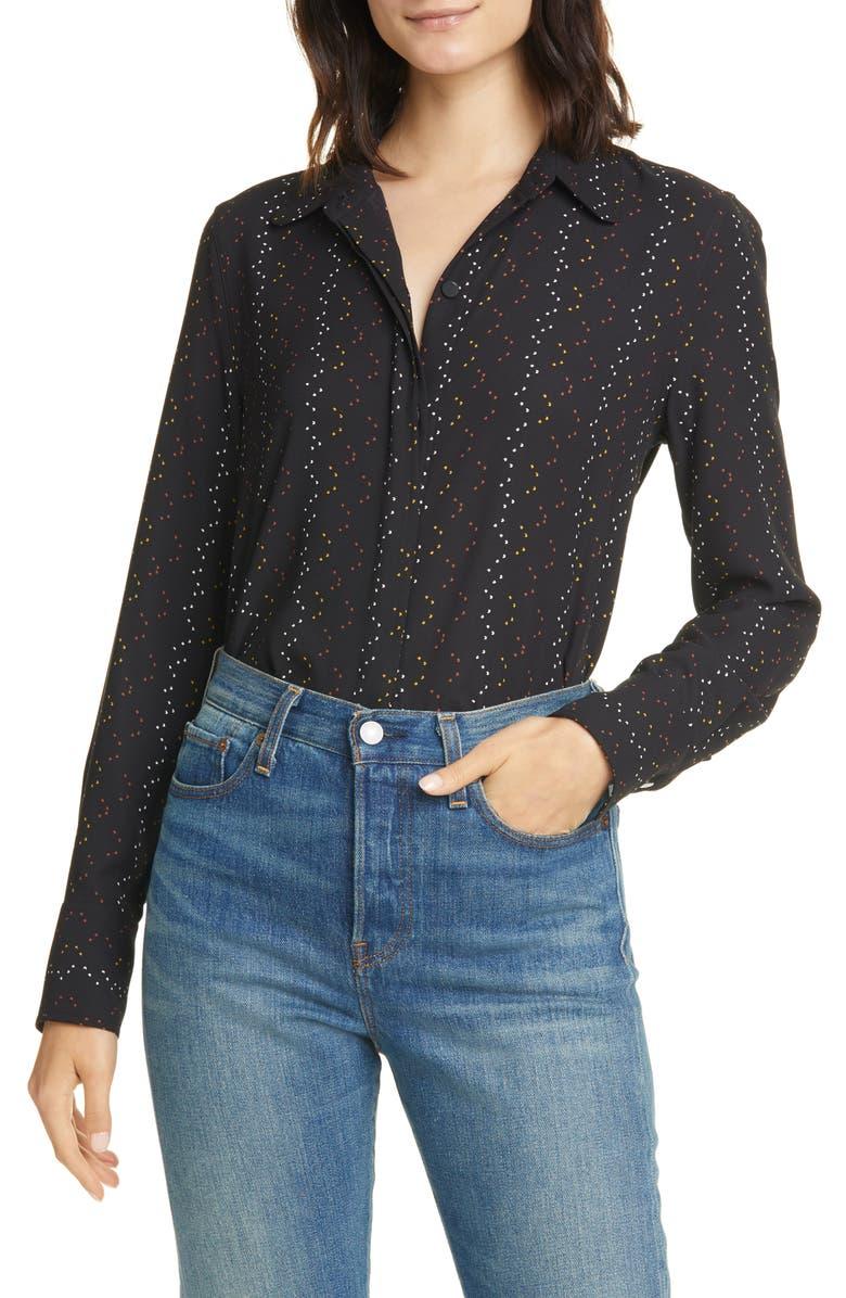 EQUIPMENT Inisse Print Shirt, Main, color, TRUE BLACK MULTI
