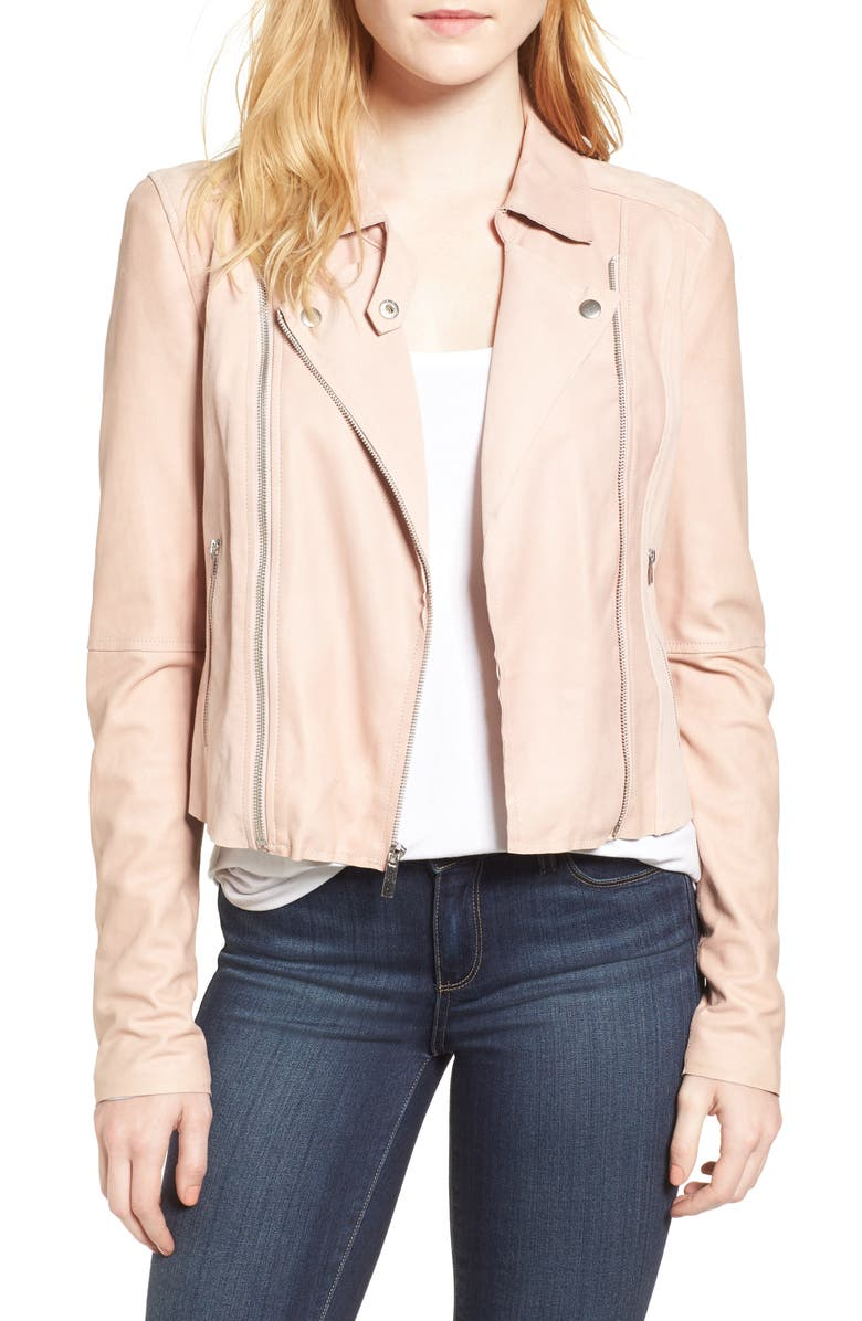 PAIGE Silvie Leather Moto Jacket, Main, color, 687