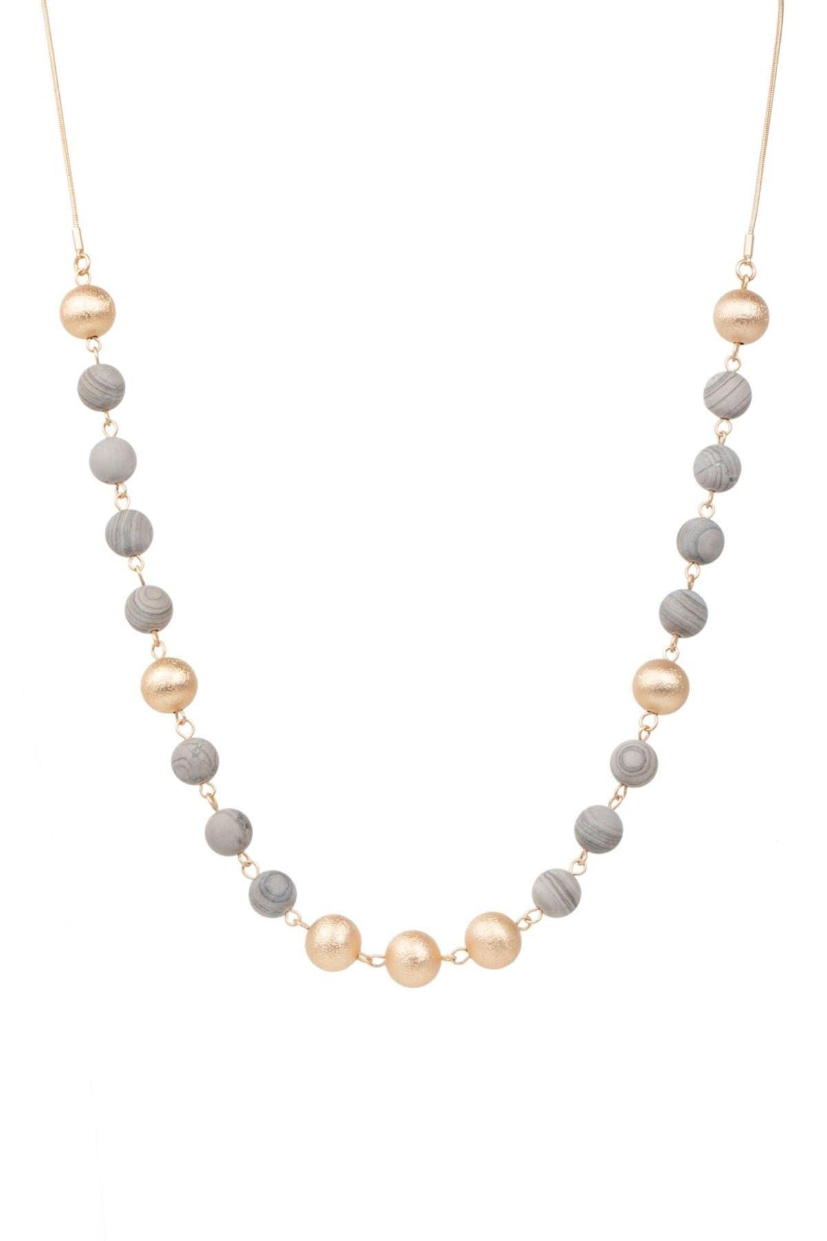 Image of Saachi Olivine Natural Stone Beaded Necklace