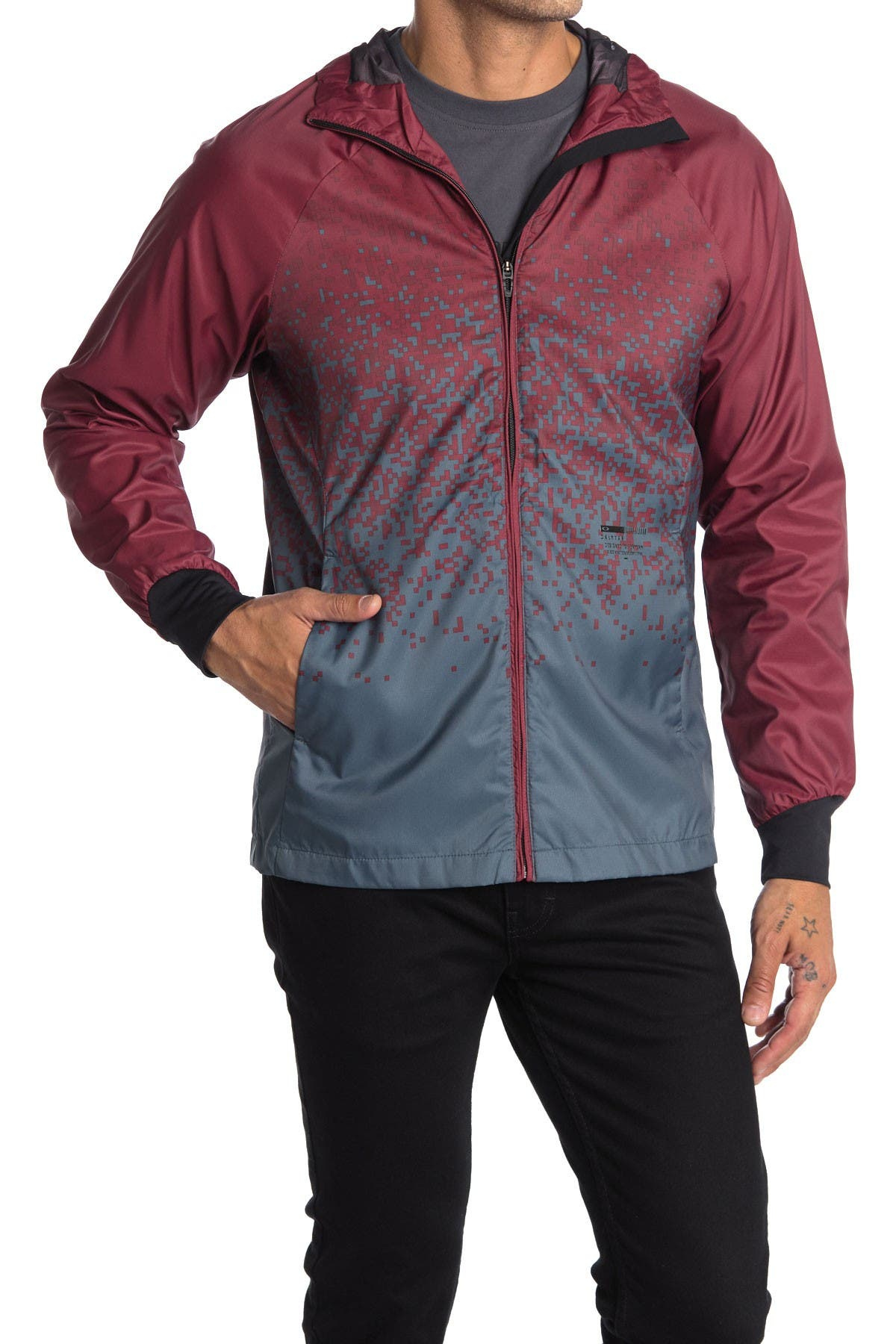 Image of Oakley Enhance Hooded Windbreaker Jacket