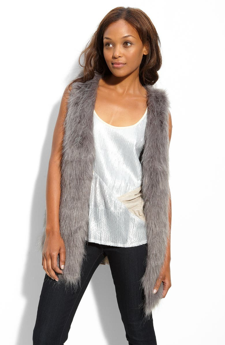 KENSIE Faux Fur Vest, Main, color, 096